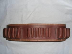 Cartouchière cuir mixte 12 et grande chasse.