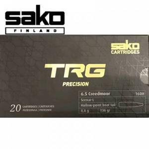 Cartouches 6,5 Creedmoor SAKO TRG Précision 136 Grs X 20.