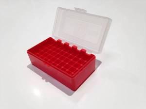 Boite MEGALINE CLEAR RED pour 50 Cart. 38 Spé / 357 Mag.