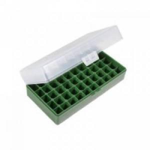 Boite MEGALINE CLEAR pour 50 Cart. 45 ACP / 40 S&W.