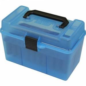 Boite MTM H 50 R MAG Bleue translucide.