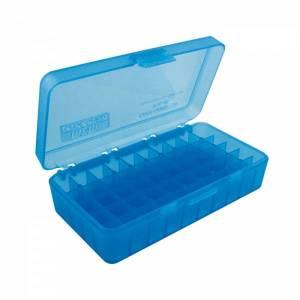 Boite MTM P 50 45 ACP Bleue translucide.