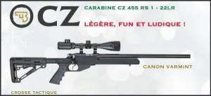 Carabine CZ 455 VARMINT RS1 Cal. 22 LR Pack Noel.