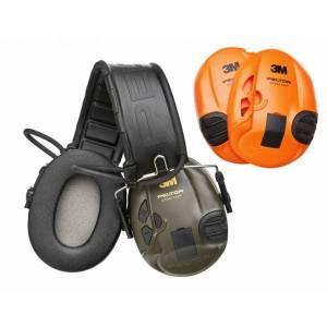 Casque Electronique PELTOR SportTac Vert / Orange .