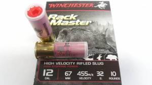 Cartouches WINCHESTER Cal.12 RackMaster SLUG X 10.