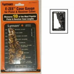Jauge Lyman E - ZEE pour douilles d' armes de poing.